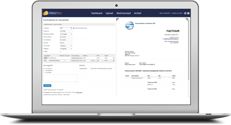 Verify automatic booking entries for invoices and expenses