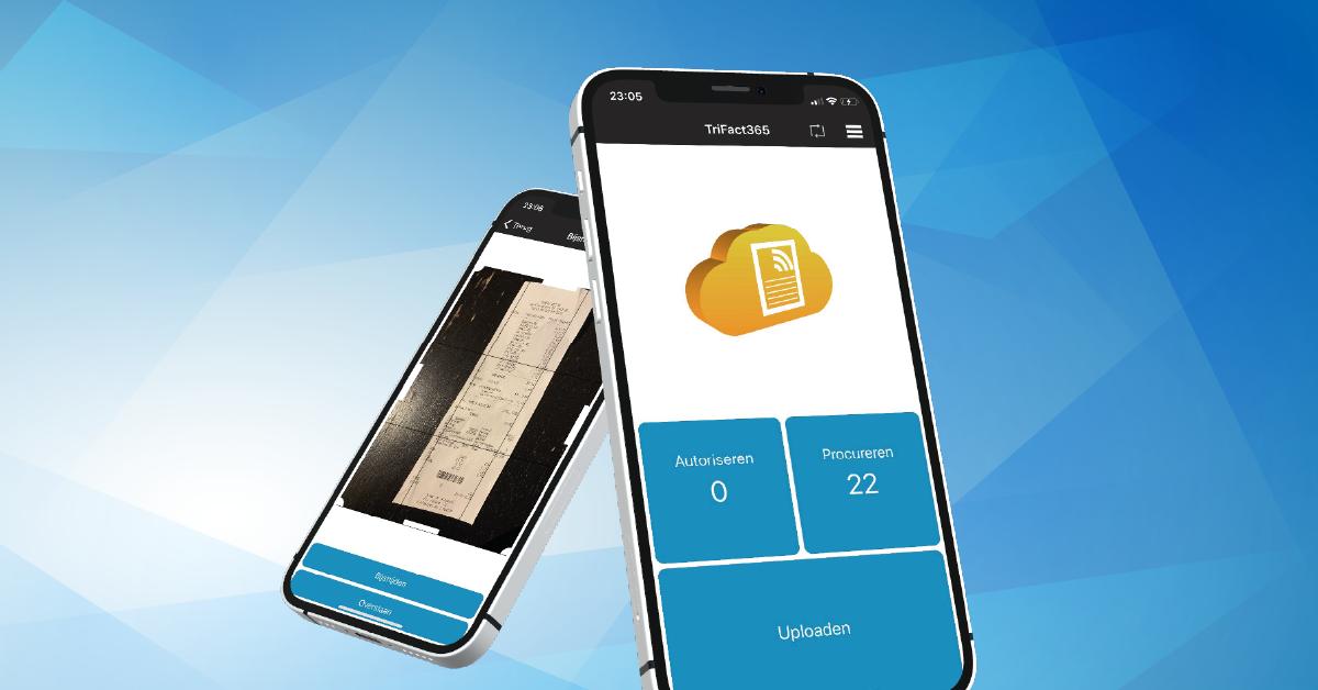 Escanear recibos con la aplicación TriFact365