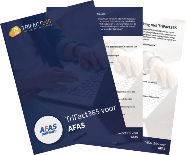 AFAS brochure voor Scan en herken software van TriFact365