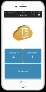 screenshot mobiele app dashboard, download TriFact365 app