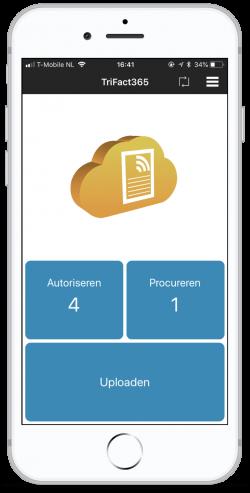 Het dashboard voor het autoriseren, procureren en uploaden.