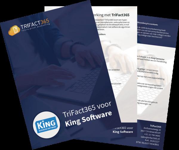 Screenshot van de TriFact365 brochure voor King Business Software.