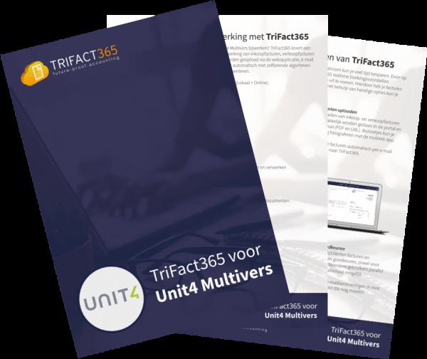 Brochure TriFact365 scan en herken voor Unit4 Multivers