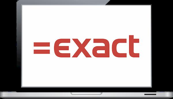 Exact Online logo op laptop voor koppeling met TriFact365