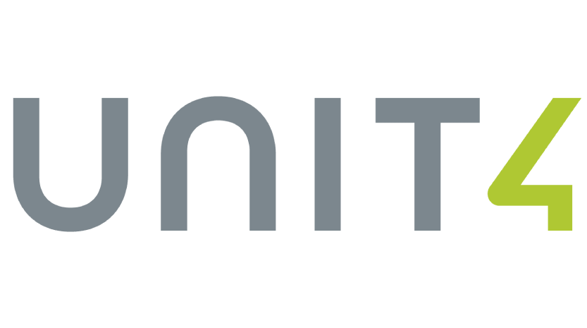 Unit4 multivers logo voor de vernieuwde koppeling met Unit4 Multivers.