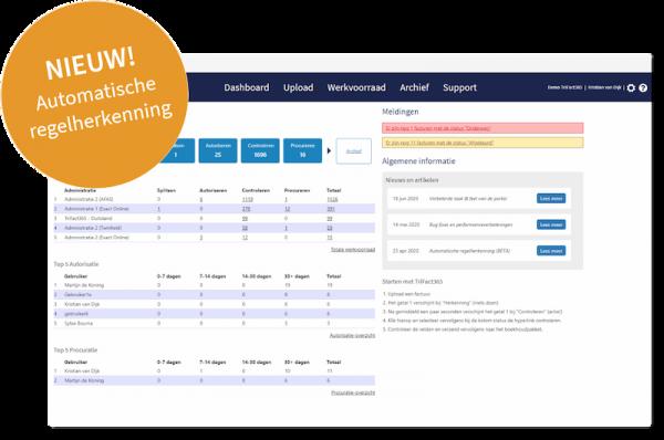 Scan & Herken Software screenshot met melding update regelherkenning