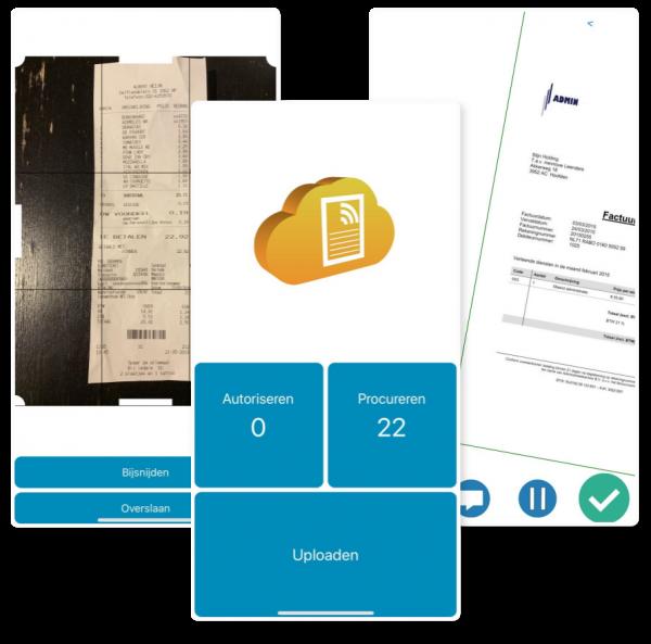 Screenshot van TriFact365 mobiele app voor Snelstart Digitale Declaraties