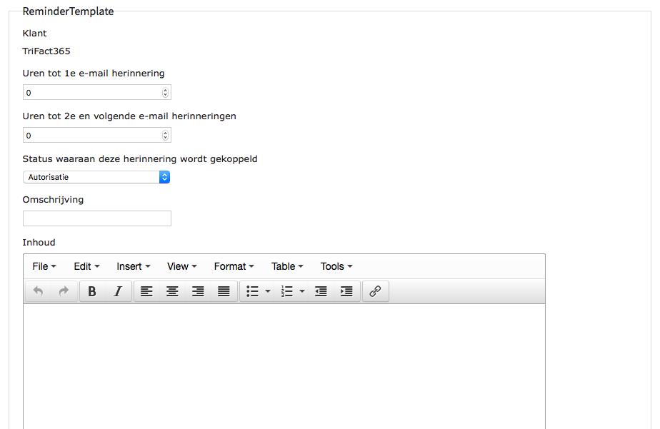 E-mailherinneringen instellen