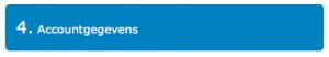 Koppelen met een boekhoudpakket: Stap 4: Accountgegevens