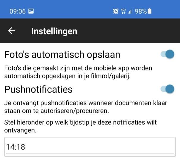 Escanee y procese los recibos con la configuración de las notificaciones push automáticas