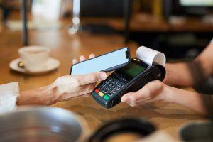Betaling met mobile app en kassabon