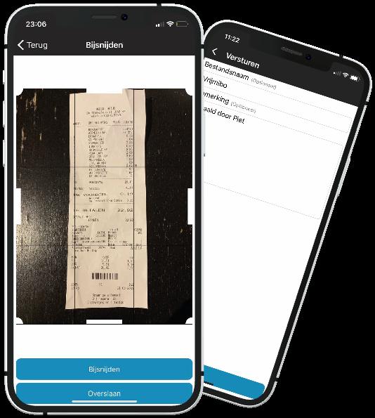 Screenshot der App zum Lesen und Hochladen.